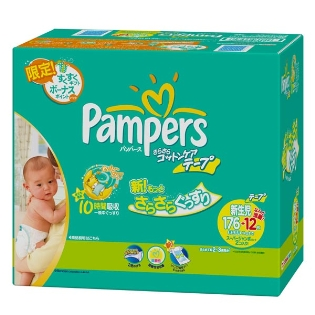 Pamperscottencea newborn 176 cards +12 cards (5 kg) daily use from the best rates