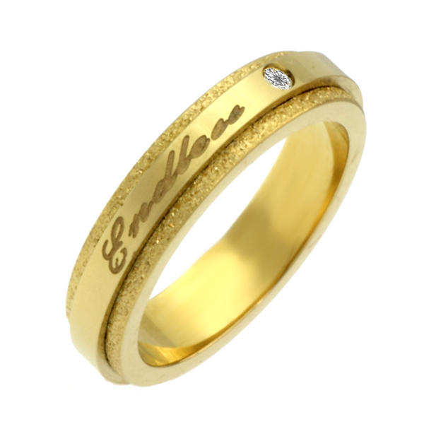 指輪 刻印 ステンレス リング1号 3号 5号 エンドレス(ゴールド)【楽ギフ_包装選択】【楽ギフ_メッセ】【楽ギフ_名入れ】 ジーラブ