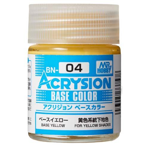人気ショップが最安値挑戦 ガンプラ ガンダム グッズ プラモデル なら バンダイ公認プロショップ G作戦 ベースイエロー へ アクリジョン ベースカラー BN04 塗料 新作製品 世界最高品質人気