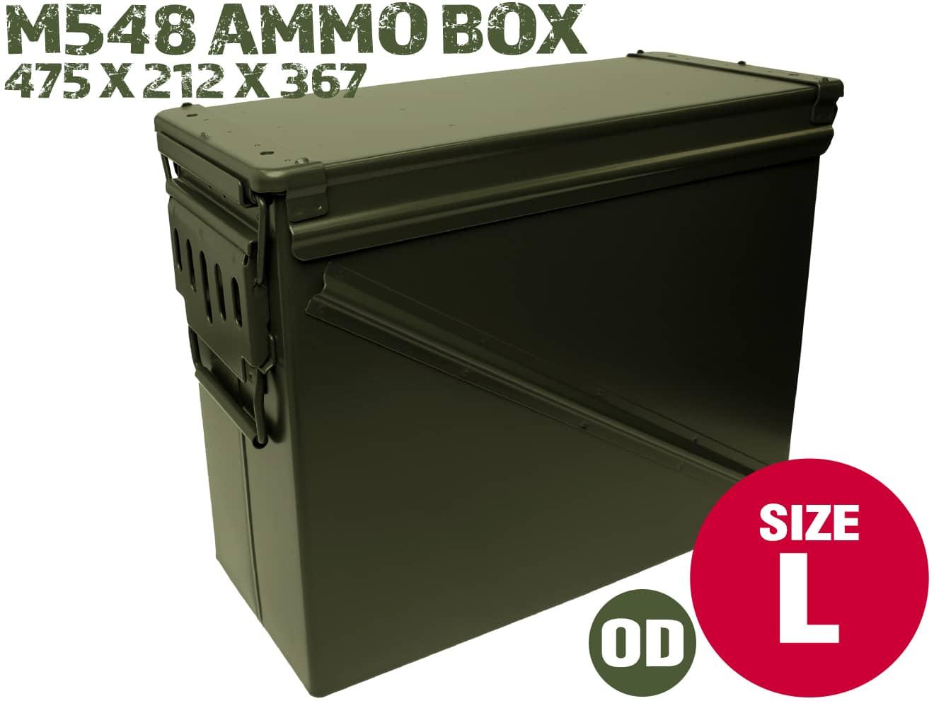 【40mmグレネード弾ケースモデリング】M548タイプ 40mm アンモボックス/OD◆ガンパーツ/部品/ツール/工具の収納・運搬に!店舗オブジェにも!
