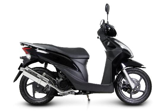SP TAKEGAWA (special parts Takekawa) power silent over muffler ★ HONDA Honda Dio 110 (04-02-0058)