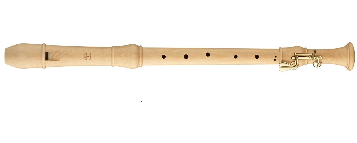 メックリコーダー 木製リコーダーロンド合奏用テナーリコーダー MOECK 2400(B)キーなし バロック