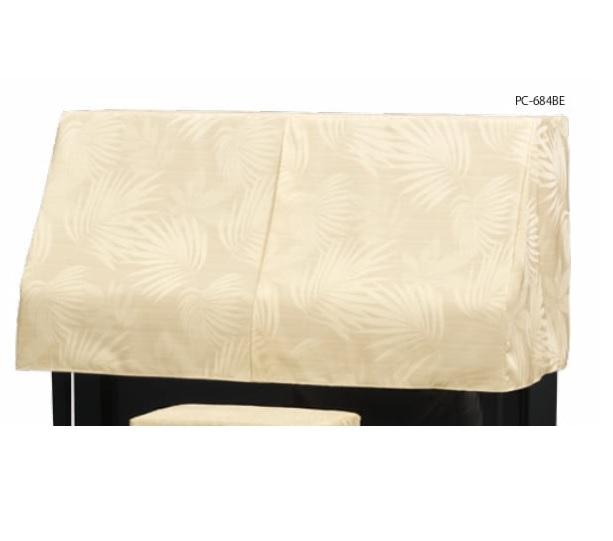 アップライトピアノカバー PC-584BE シダ柄ジャガード織 ピアノケープ ピアノハーフカバー