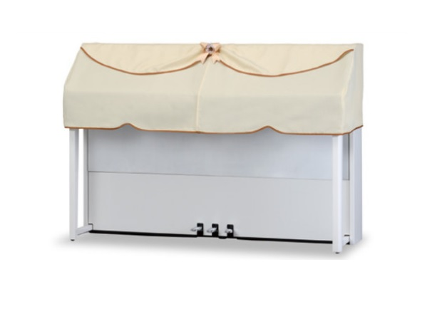 電子ピアノカバー コンソールピアノカバー デジタルピアノカバー  ベージュDPC-430NL 網目調無地ピアノケープ ハーフカバー  ヤマハNU1など