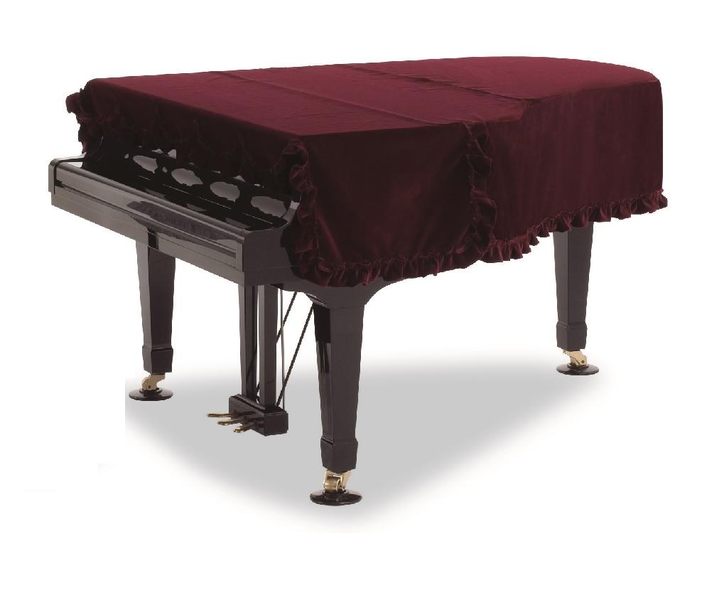 グランドピアノカバー GP-418XE  ベルベット生地エンジ べ―ゼンドルファー225 スタインウェイC型 ヤマハC7,G7 アポロA-38