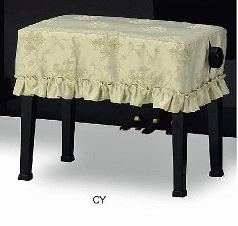 ピアノ椅子カバー 評価 2020秋冬新作 ベンチ型椅子用CY-686TG ト音エンブレムジャガード織 ベンチ型椅子 ライトグリーン