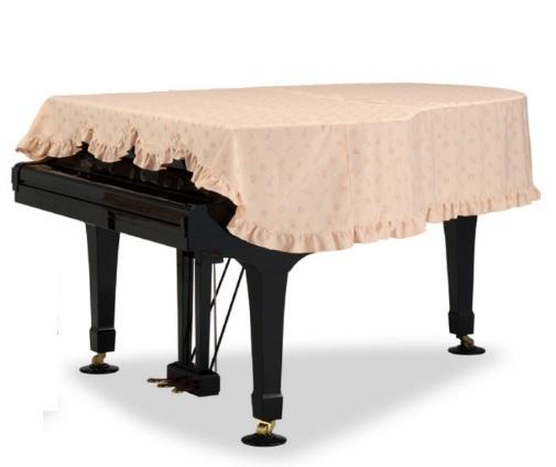 グランドピアノカバー GP-596BB6A ブラスバンド柄ジャガード織 ベージュ 200~220cm未満 アポロA-35 アトラスAG-7b AGコンサートI ディアパソンD-210 DR-211 DR-500 ベーゼンドルファー200 213 214 スタインウェイB型 ボストンGP-218 ヤマハ特注品番