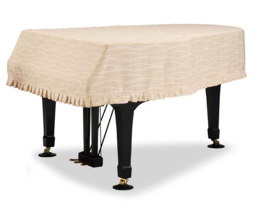 グランドピアノカバー GP-596BB1 ブラスバンド柄楽器柄 ベージュヤマハC1,C1X等用現行サイズ用