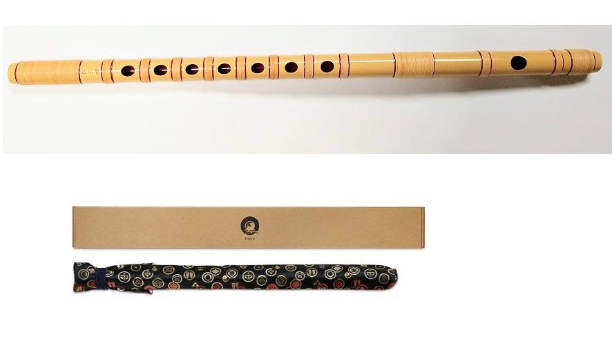 篠笛 獅子田 竹峰 本漆塗り 本重漆白 七本調子 大塚竹管楽器 七つ穴 六つ穴