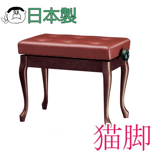 【信頼の吉澤・日本製】 ピアノ椅子の定番中の定番! Y-30N 猫脚タイプ【黒】 【送料無料!】