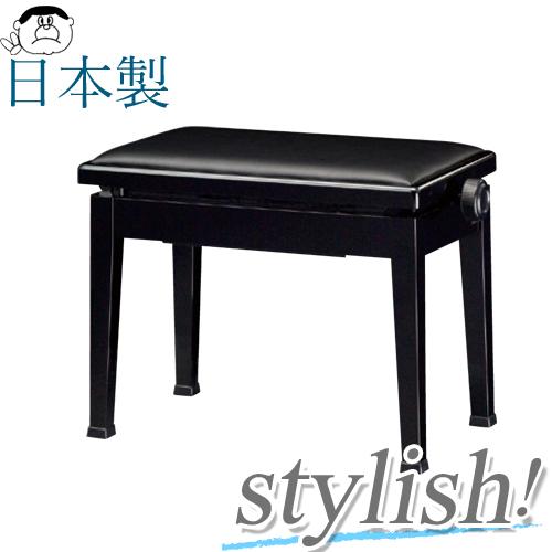 【信頼の吉澤・日本製】(定番) スタイリッシュ ピアノ椅子! Y-20 【黒】 【送料無料!】