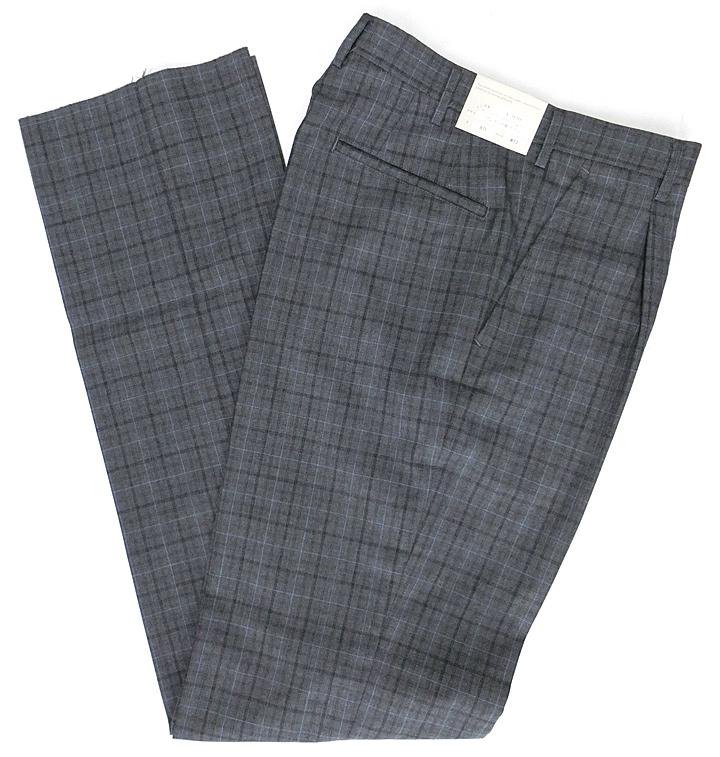 夏用メンズ制服スラックス【A920】グレーチェック ワンタックW70-W96 カンコー学生服