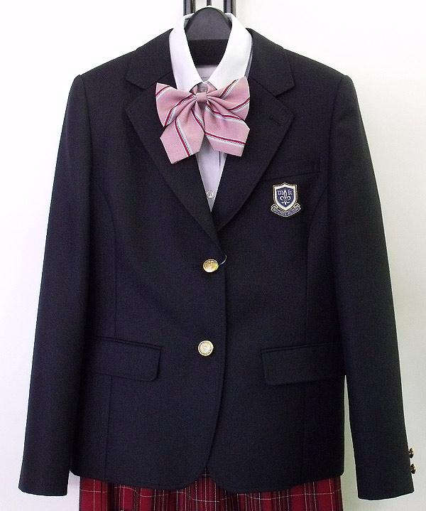 ミッシェルクラン制服スクールブレザー 濃紺 M-L2つボタン エンブレムのオマケ付き カンコー学生服