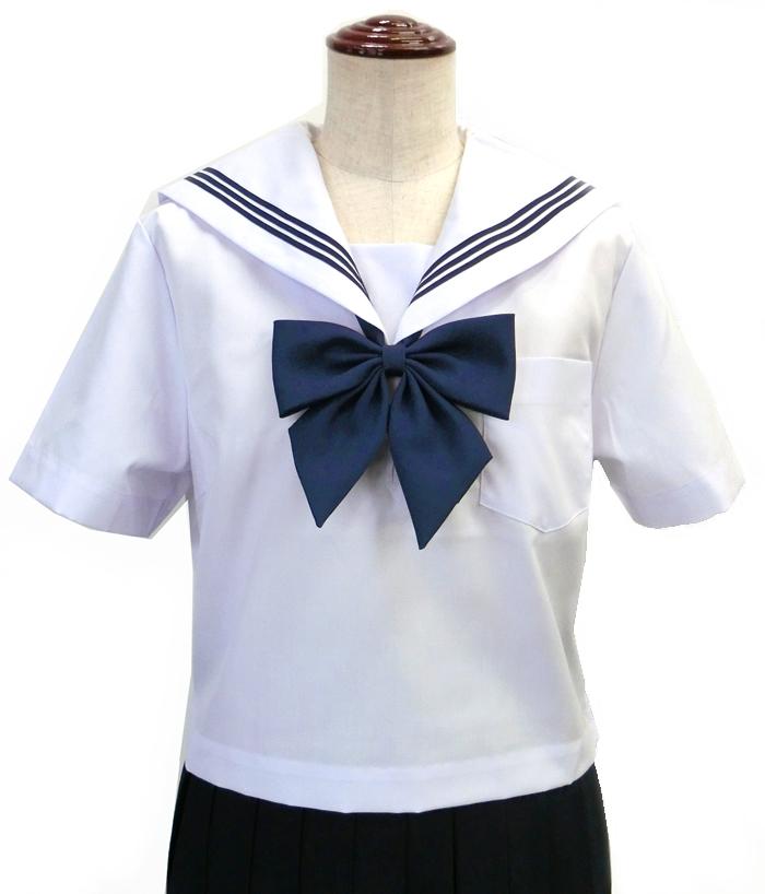 KURI-ORIクリオリ セーラー服 半袖 白身頃×白衿 155A-175A 日本製