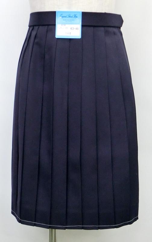 制服 スカート 紺 セーラースカート 冬用 W60/63/66/69/72 丈48/54 KURI-ORIクリオリ【日本製】