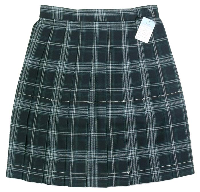 制服スカート【KR-372W】丈48 W75~85(KURI-ORIクリオリグリーンチェック)
