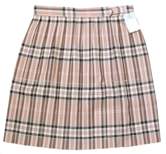 制服スカート【KR-374】丈48・W60~72(KURI-ORIクリオリ/上品ピンクチェック)
