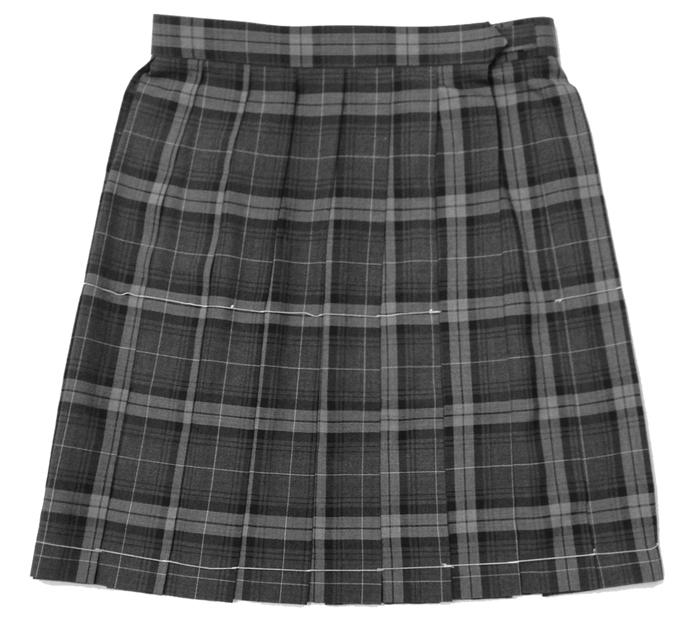 【大きいサイズ】制服サマースカート グレーチェック柄W75~85丈54 夏用 KURI-ORIクリオリ