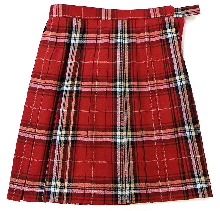 (ビー・ステラ) チャコール×グリーンチェック BE STELLA 新着★制服スカート