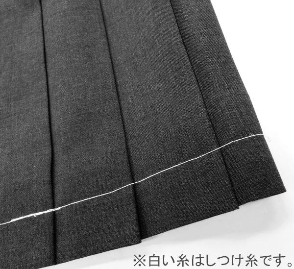 夏用スカートグレー無地制服サマースカートW63〜80丈51トンボ学生服&be(アンビー)