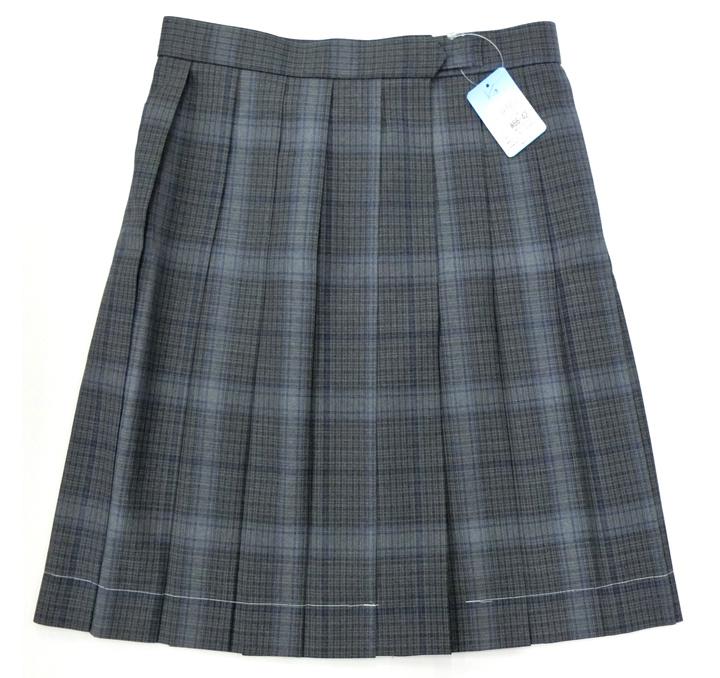 【大きいサイズ】制服 スカート 夏用 ブルーチェックW75~85 丈54 KURI-ORIクリオリ