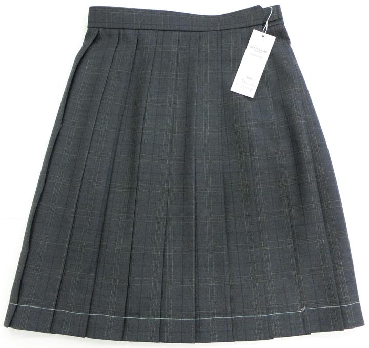 大きいサイズ(W75~85)チェック柄制服スクールスカート超定番グレーチェック5301W【ラッキーシール対応】