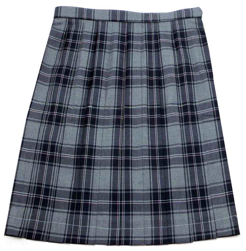 583b74489267c8 制服 W75-W85 大きいサイズ スカート 【ラッキーシール対応】 グレー紺ピンクチェック