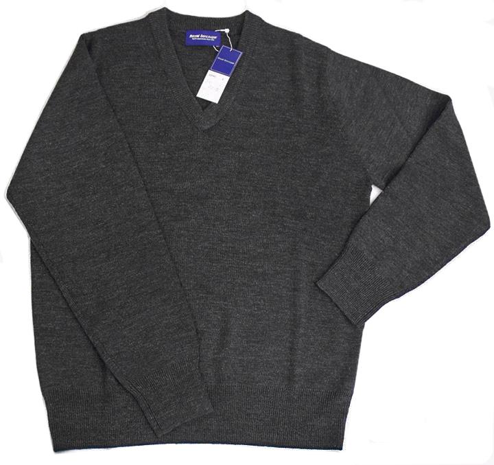 男女兼用スクールセーター【RB907】ウォッシャブルなVネックウール混セーター
