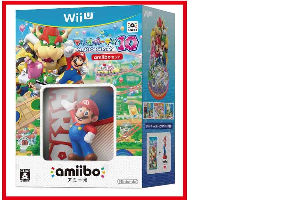 【新品】(税込価格)WiiU マリオパーティ10 amiiboセット