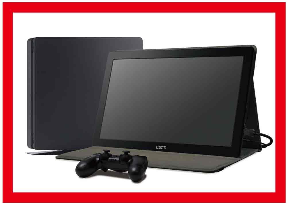 【新品】(税込価格)PS4 Portable Gaming Monitor for PlayStation4 [ポータブルゲーミングモニター] (PS4対応)(15.6インチ)【SONY正規ライセンス商品HORI製】(PS4-087)★画像に写っているPS4本体とコントローラーは付属しておりません