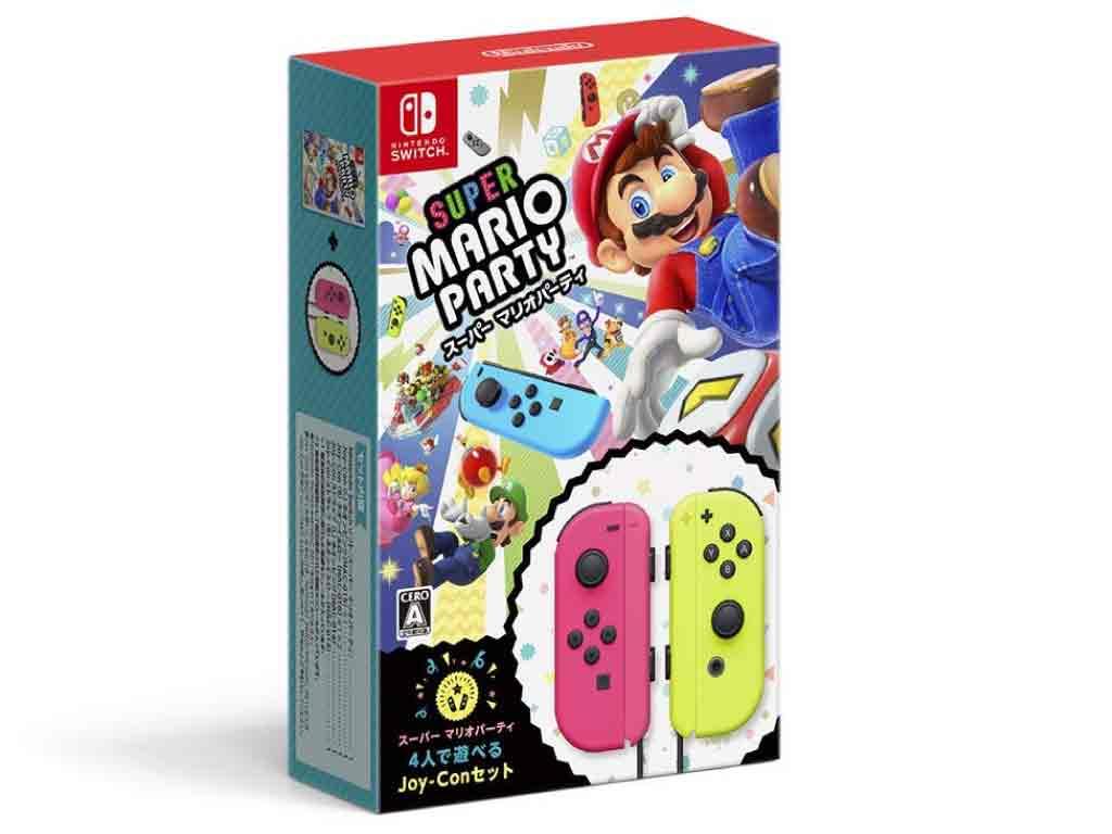 【新品】(税込価格) Nintendo Switch スーパーマリオパーティ 4人で遊べるJoy-Conセット[ゲームソフト1本/Joy-Con(L)ネオンピンク1個/Joy-Con(R)ネオンイエロー1個のセットになります。]/外装に少し傷み汚れ等がある場合がございます
