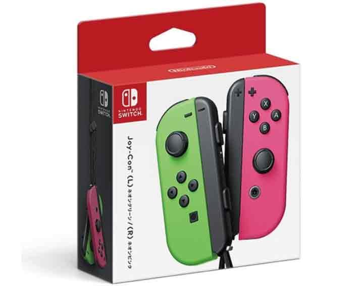 【新品】(税込価格)Nintendo Switch Joy-Con (L)ネオングリーン/(R)ネオンピンク【任天堂国内流通正規純正品】