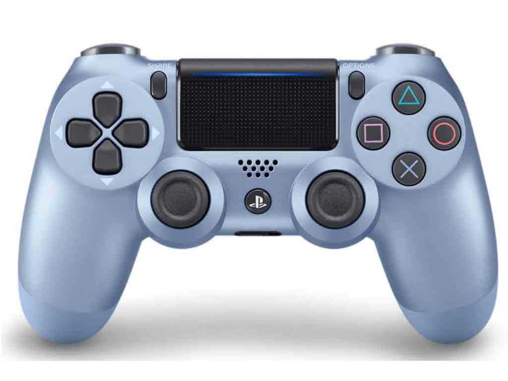 【新品】(税込価格) PS4 ワイヤレスコントローラー デュアルショック4 [DUALSHOCK4]チタン・ブルー SONY純正品「CUH-ZCT2J28」/新品未開封品ですがパッケージに少し傷み汚れ等がある場合がございます。