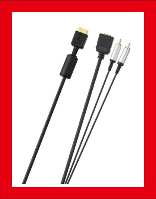 【新品】(税込価格) PS3用/PS2用 D端子ケーブル SONY純正品