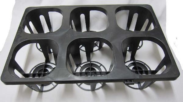 システムトレー180 6穴 6号用 黒 プラスチックトレイ 宅配便送料無料 送料無料新品