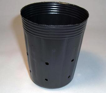 側面穴付ポリポット深鉢 9cm 100個 黒 日本最大級の品揃え 時間指定不可