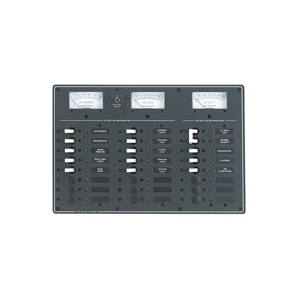 AC/DCサーキットブレーカー付スイッチパネル・21P 8084