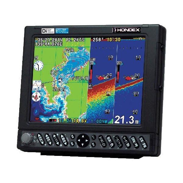 魚群探知機 HONDEX 10,4型カラー液晶プロッター魚探 HE-7311-Di-Bo 1Kw アンテナ外付