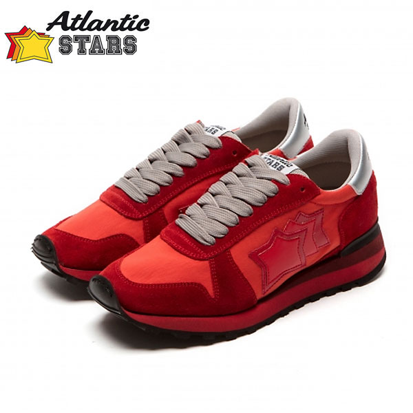 Atlantic STARS(アトランティックスターズ)ALHENA アレナ RF-NY-NRRN レッドビブラムソール レディース スニーカー