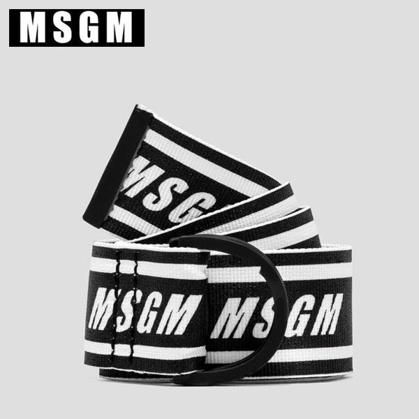 MSGM エムエスジーエムテープベルト MSGM LOGO BELTブラック メンズ 2640MY01 195234【プレゼント・ギフトに最適 】