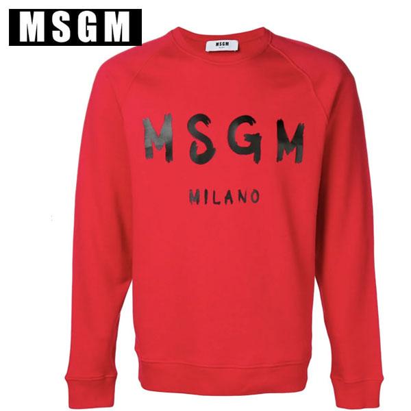 MSGM レッド スウェット エムエスジーエムロゴ MM104 メンズ ユニセックス手書きロゴ