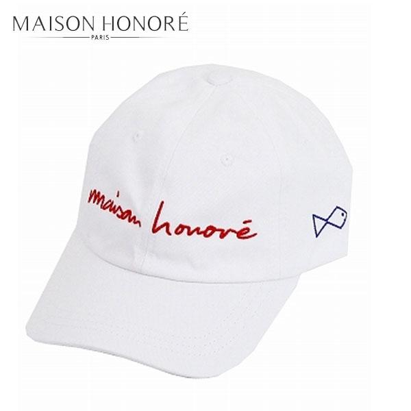 MAISON HONORE メゾンオノレBABAベースボールキャップ ホワイト ユニセックス