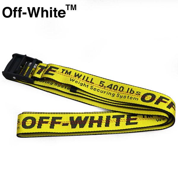 OFF-WHITE オフホワイトミニ インダストリアル ベルト イエロー & ブラック YELLOW MINI INDUSTRIAL BELT OMNA074R 20E48001 1000 ベルト ユニセックス