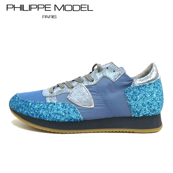 PHILIPPE MODEL(フィリップモデル)TRLD GT15 44528ブルー レディース スニーカーカジュアルスニーカー フランス