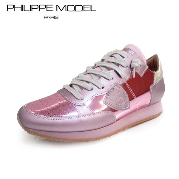 PHILIPPE MODEL(フィリップモデル)PM TRLD WY105 サイズ37(約22.5cm~約23.0cm)ピンク レディース スニーカーカジュアルスニーカー フランス
