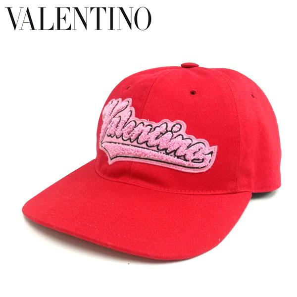 VALENTINO ヴァレンティノ ロゴ キャップ 帽子 メンズ レディース ユニセックス 男女兼用 ベースボール プリント レッド red Black Varsity Logo Cap 人気 イタリア ブランド