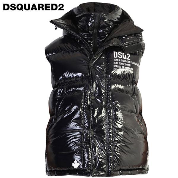DSQUARED2 ディースクエアードダウンベスト メンズ ダウンジャケット S71FB034S52325ブラック