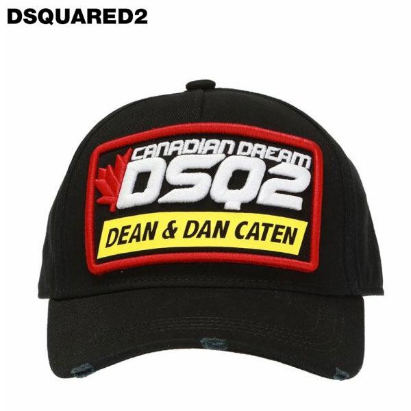 DSQUARED2 ディースクエアードBRANDED BASEBALL CAP ベースボール キャップBCM023905C00001 ブラック ユニセックス