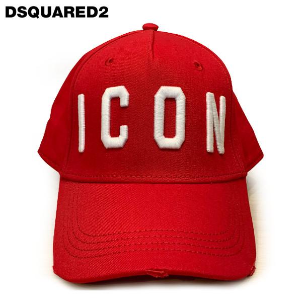 DSQUARED2 ディースクエアードBaseball Cap ベースボール キャップBCM4001 05C00001M068 レッド ユニセックス