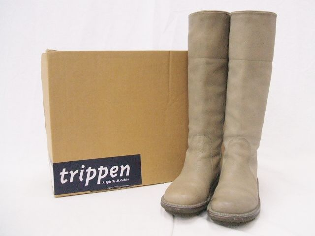 trippen/トリッペン/Nordic/ロングレザーブーツ【レディース】【中古】【geejee_aw】9-1122A★